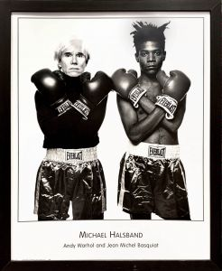 Andy Warhol and Jean Michel Basquiat Poster / Michael Halsband
