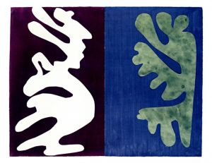 Composition, Violet and Blue・1947 / Henri Matisse